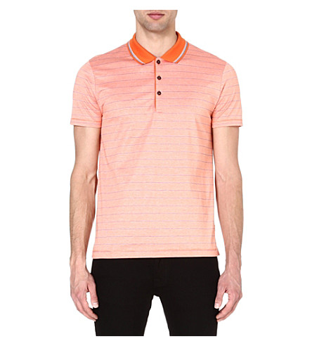HUGO BOSS Firenze stripe polo shirt (Orange