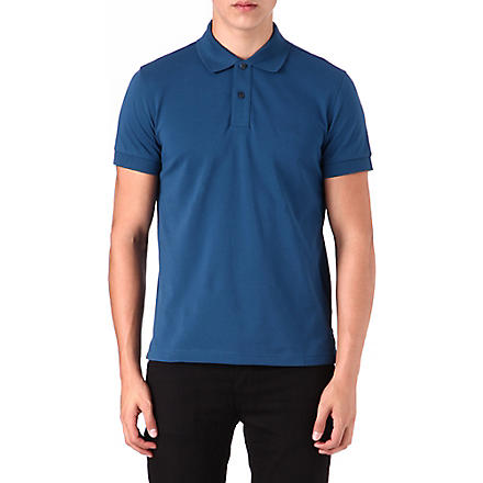 HUGO BOSS Logo pique polo shirt (Blue