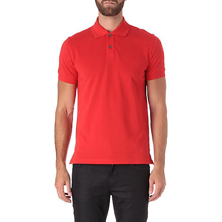 HUGO BOSS Logo pique polo shirt (Red