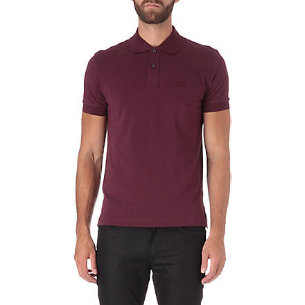 HUGO BOSS Pique-cotton polo shirt (Purple