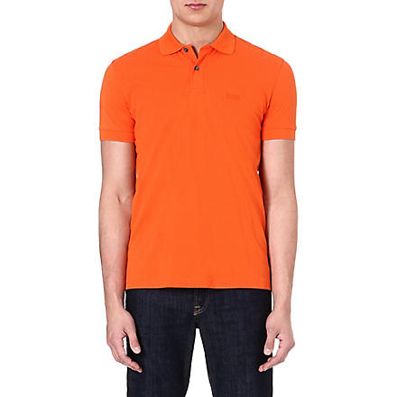 HUGO BOSS Firenze cotton polo shirt (Orange