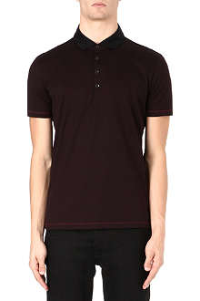 HUGO BOSS Fontana fine-stripe polo shirt