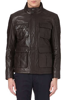 HUGO BOSS Ganvin leather field jacket