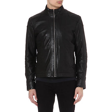 HUGO BOSS Gibson leather jacket (Black