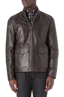 HUGO BOSS Ginu leather jacket