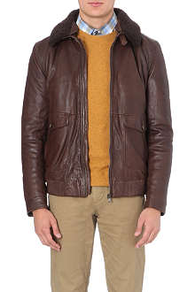 HUGO BOSS Aviator leather jacket