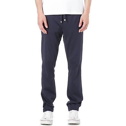 HUGO BOSS Hadiko cuffed jogging bottoms (Navy