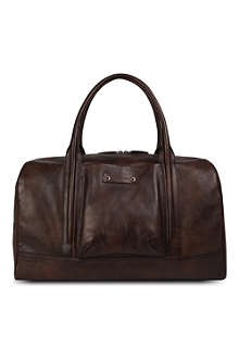 HUGO BOSS Vintage hand-crafted leather holdall