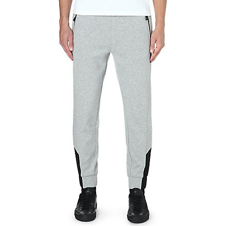 HUGO BOSS Cotton-blend jogging bottoms (Grey