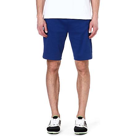HUGO BOSS Cotton-blend sweat shorts (Blue
