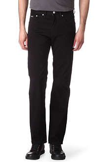 HUGO BOSS Iowa regular-fit brushed-cotton jeans