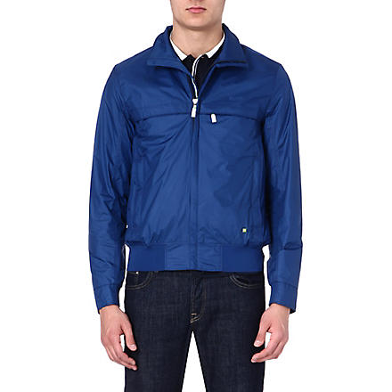 HUGO BOSS Nylon zip-through jacket (Blue