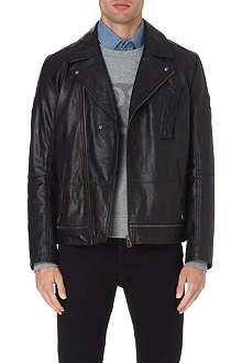 HUGO BOSS Jama leather biker jacket