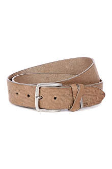 HUGO BOSS Leather cross keeper belt