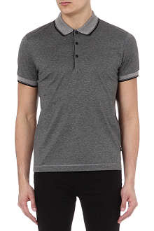 HUGO BOSS Fine stripe mercirised polo shirt