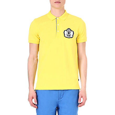 HUGO BOSS Janis crest logo polo shirt (Yellow