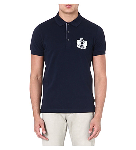 HUGO BOSS Janis crest logo polo shirt (Navy