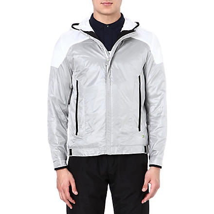 HUGO BOSS Nylon jacket with hood (Silver