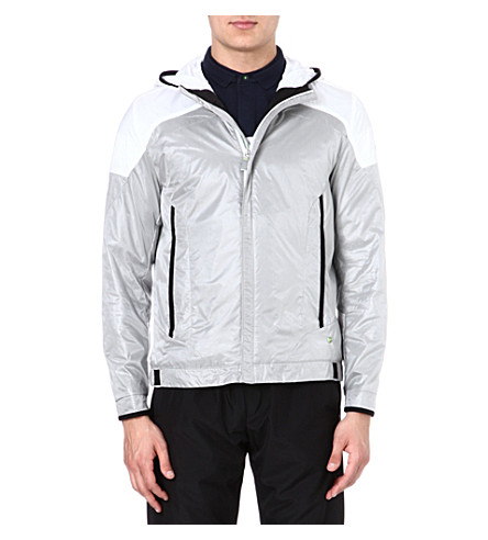HUGO BOSS Nylon jacket with hood (Silver