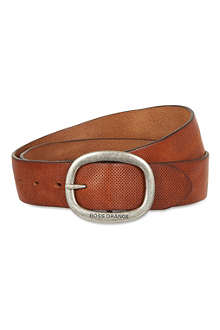 HUGO BOSS Perforated leather belt