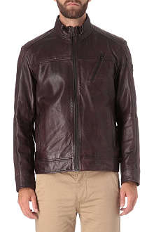 HUGO BOSS Jips leather blouson jacket
