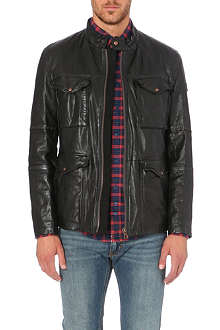 HUGO BOSS Utility leather jacket