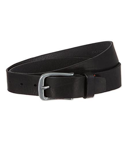 HUGO BOSS Leather jeans belt (Black