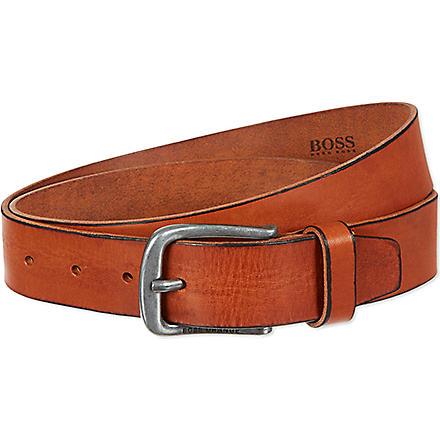 HUGO BOSS Leather jeans belt (Tan