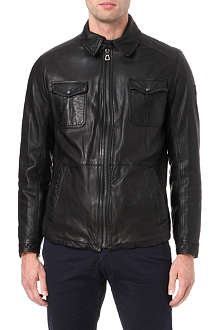 HUGO BOSS Joser leather jacket