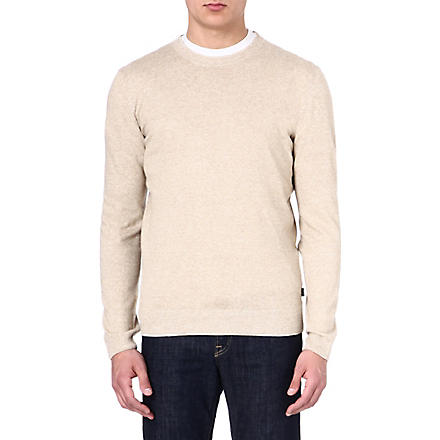 HUGO BOSS Linen mix jumper (Beige