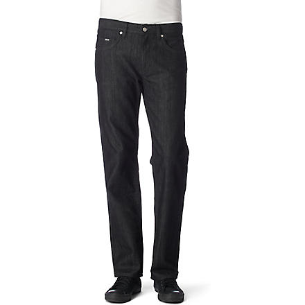 HUGO BOSS Kansas regular-fit straight jeans (Black