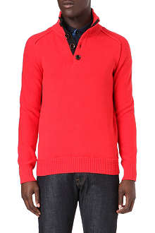 HUGO BOSS Half-button knitted jumper