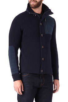 HUGO BOSS Wool-blend knitted jacket