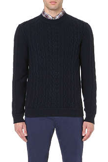 HUGO BOSS Klass cable-knit jumper