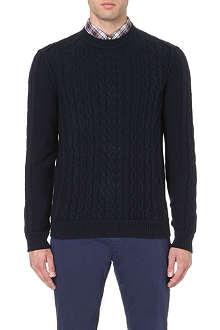 HUGO BOSS Klass cable-knit jumper