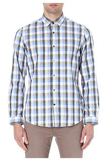 HUGO BOSS Herringbone checked shirt