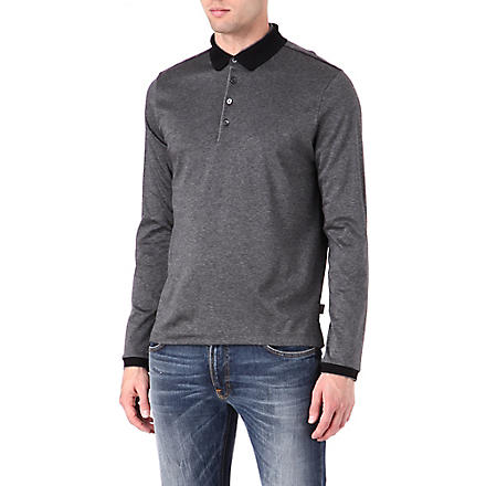 HUGO BOSS Pin dot polo shirt (Grey