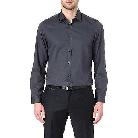 HUGO BOSS Lorenzo cotton shirt (Charcoal