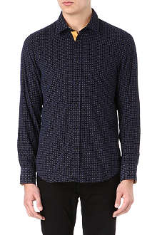 HUGO BOSS Floral print cotton shirt