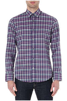 HUGO BOSS Poplin checked shirt
