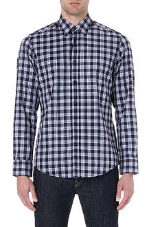 HUGO BOSS Twill check shirt