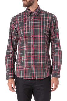 HUGO BOSS Large check cotton shirt