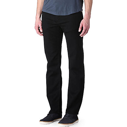 HUGO BOSS Maine regular-fit straight jeans (Black