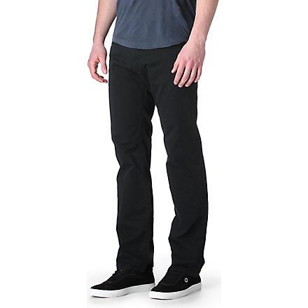 HUGO BOSS Maine Gabardine regular-fit straight jeans (Black