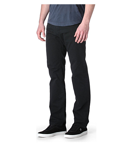 HUGO BOSS Maine Gabardine regular-fit straight jeans (Black
