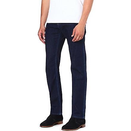 HUGO BOSS Maine regular-fit straight jeans (Navy