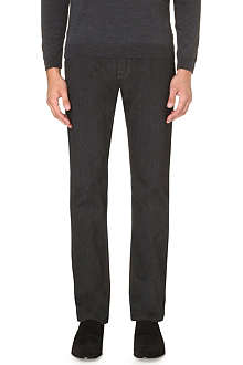 HUGO BOSS Maine herringbone regular-fit straight jeans