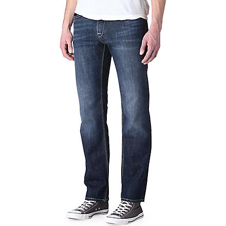 HUGO BOSS Maine straight-leg jeans (Bright+blue