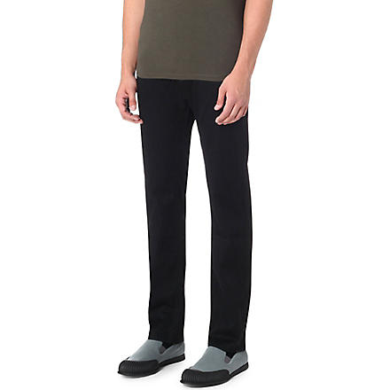 HUGO BOSS Regular-fit tapered jeans (Black