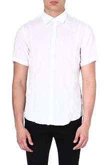 HUGO BOSS Short-sleeve linen shirt